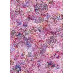 RJ806-FU2D Arcadia - Crochet Blossoms - Fuchsia Digiprint Fabric