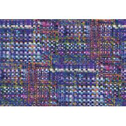 RJ809-IN1D Arcadia - Checkered - Indigo Digiprint Fabric
