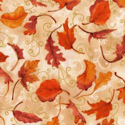 3116-002 Autumn Air - Whirlwind - Mulberry Metallic Fabric