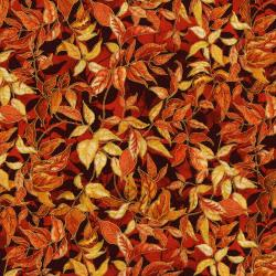 3118-002 Autumn Air - Rustling Leaves - Maple Metallic Fabric