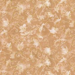 3119-005 Autumn Air - Blustery Day - Natural Metallic Fabric