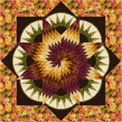 9653-453 Autumn Air - Autumn Swirl Quilt Kit