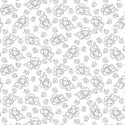 2622-003 Bare Essentials Deluxe - Cat Nap - White/Black Fabric