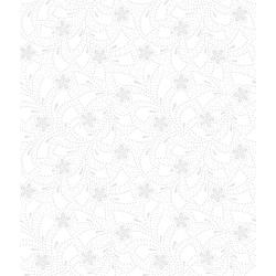 3318-001 Bare Essentials Deluxe - Flower Toss - White Glove Fabric