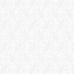 RJ505-WW1 Bare Essentials Deluxe - Paisley - White on White Fabric