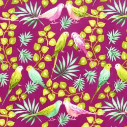 3409-003 Beach Bash - Lovebirds - Dragon Fruit Fabric