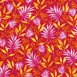 3410-002 Beach Bash - Fronds Forever - Papaya Fabric