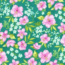 3411-001 Beach Bash - Hibiscus Hula - Pool Side Fabric