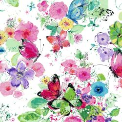 RJ1200-CA1 Bloom Bloom Butterfly - Meadowland - Carnation Fabric