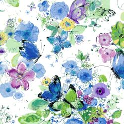 RJ1200-IR2 Bloom Bloom Butterfly - Meadowland - Iris Fabric