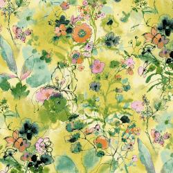 RJ1202-LE2 Bloom Bloom Butterfly - Wild Meadow - Lemon Fabric