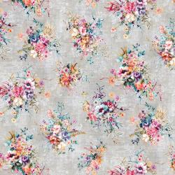 RJ2205-CO1D Bouquet - Boutique Blooms - Concrete Digiprint Fabric