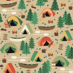 RJ1600-BA3 Camping Crew - Campground - Bark Fabric