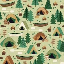 RJ1600-MO2 Camping Crew - Campground - Moss Fabric