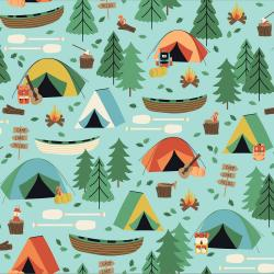RJ1600-SK1 Camping Crew - Campground - Sky Fabric