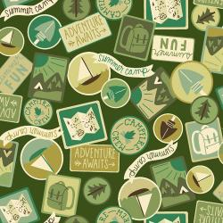 RJ1603-MO3 Camping Crew - Patches - Moss Fabric