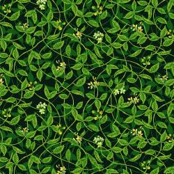 RJ1404-GR2 Citrus Garden - Leaves - Green Fabric