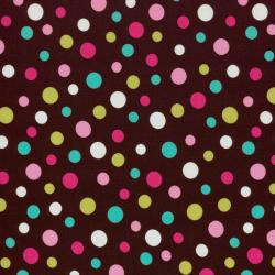 8172-006 Dots & Stripes - Dots - Brown Fabric