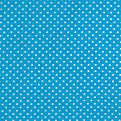 8174-031 Dots & Stripes - Small Dot - Blue/White Fabric