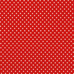 8174-041 Dots & Stripes - Small Dot - Red/White Fabric