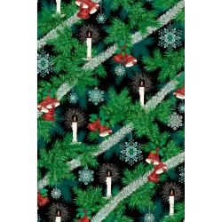 RJ600-MI1M Evergreen - Tannenbaum - Midnight Metallic Fabric