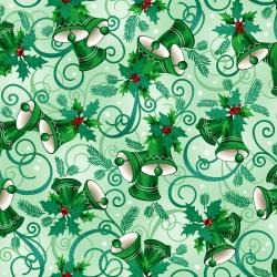 RJ603-SA3M Evergreen - Jingle - Sage Metallic Fabric