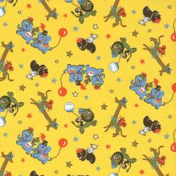 2509-001 Everything But The Kitchen Sink XI - Zoo Animals - Yellow Fabric