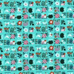 2962-003 Everything But The Kitchen Sink XII - Farm Fresh - Jadeite Fabric