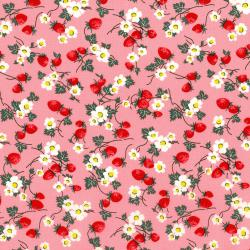 2965-001 Everything But The Kitchen Sink XII - Berries And Blooms - Bubblegum Fabric