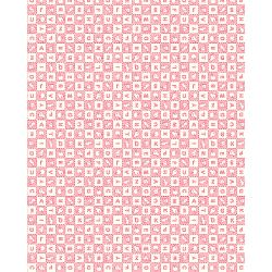 3594-001 Everything But The Kitchen Sink XIV - Alphabet Soup - Strawberry Fabric