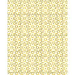 3594-002 Everything But The Kitchen Sink XIV - Alphabet Soup - Butter Fabric
