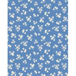 3596-003 Everything But The Kitchen Sink XIV - Daisy Dot - Blueberry Fabric