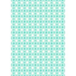3599-002 Everything But The Kitchen Sink XIV - Dotty - Aqua Fabric