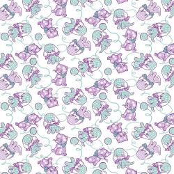 RJ2501-LA1 Everything But The Kitchen Sink XV - Furry Critters - Lavender Fabric