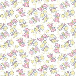 RJ2501-YE3 Everything But The Kitchen Sink XV - Furry Critters - Yellow Fabric
