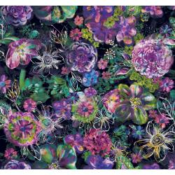 RJ301-MI1D Fiorella - Floral Eclipse - Midnight Digiprint Fabric