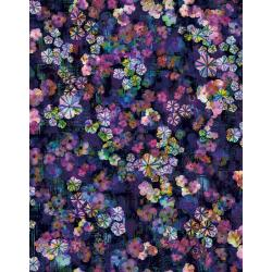 RJ303-MI1D Fiorella - Bloom Burst - Midnight Digiprint Fabric
