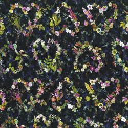 3539-001 Fleur Couture - Everyday Romance - Dark Wash Digiprint Fabric