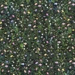 3543-001 Fleur Couture - Night Blossoms - Midnight Green Digiprint Fabric