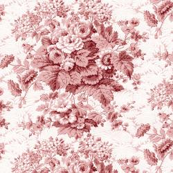RJ2700-RE2 Garden Toile - Tolie - Red Fabric