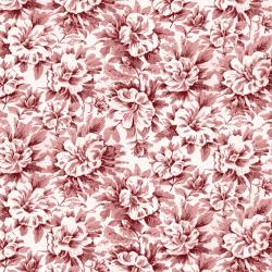RJ2701-DR2 Garden Toile - Morning Glory - Deep Rose Fabric