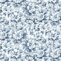 RJ2701-OC1 Garden Toile - Morning Glory - Ocean Fabric