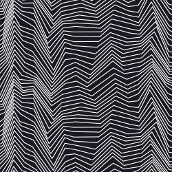 RJ1422-WB1 Gray Matter - Zig Zag - White on Black Fabric