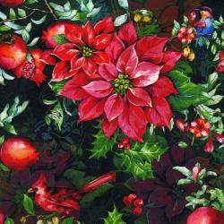 3168-002 Illuminating the Season - Winter's Flight - Tannenbaum Digiprint Fabric