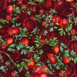 3169-002 Illuminating the Season - Balaustine - Crimson Digiprint Fabric