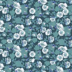 RJ1803-JA3 Ink Rose - Rose Bundle - Jade Fabric