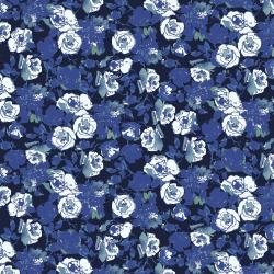 RJ1803-MI2 Ink Rose - Rose Bundle - Midnight Fabric