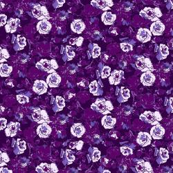RJ1803-PH1 Ink Rose - Rose Bundle - Purple Haze Fabric