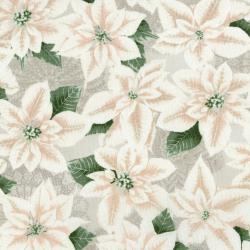 3485-002 Let It Sparkle - Pearly Poinsettia - Winter White Fabric