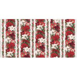 3510-001 Let It Sparkle - Yuletide Treasure - Winter White Digiprint Fabric